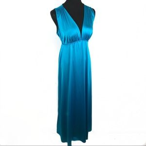 Beautiful turquoise maxi night gown